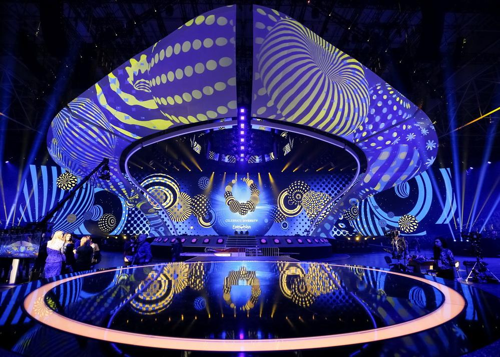 Flags at Eurovision